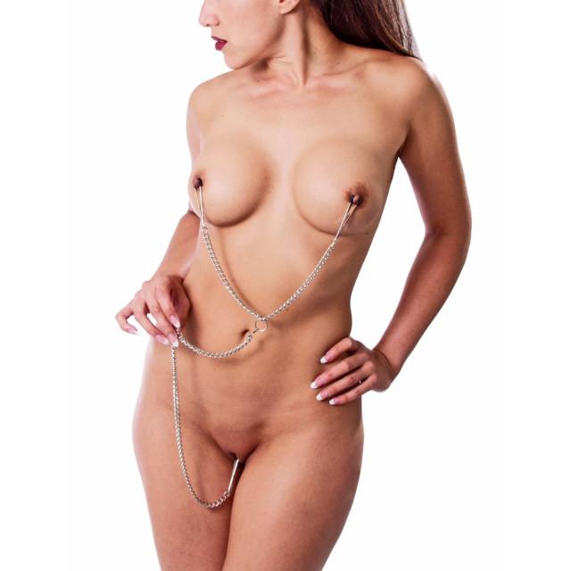 Bondage Fucked Nipple Clamps